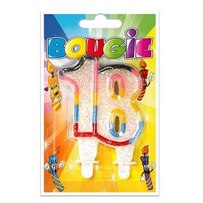 10346 - Bougie Anniversaire 18 Ans