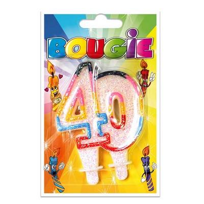 10377 - Bougie Anniversaire 40 Ans