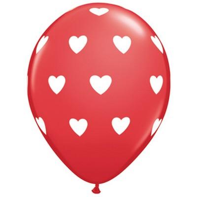 1204 - Ballons 30Cm Déco Cœur