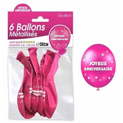 15181 - Ballons Métallisés Joyeux Anniversaire