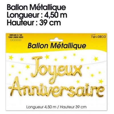 17116 - Ballon métallique Joyeux Anniversaire