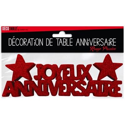 17379 - Décoration de Table Joyeux Anniversaire