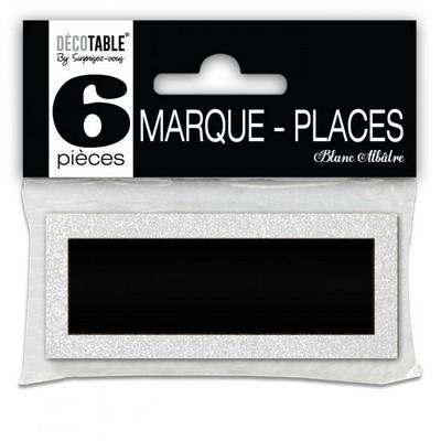 17461 - 6 Marque-places pailletés couleur