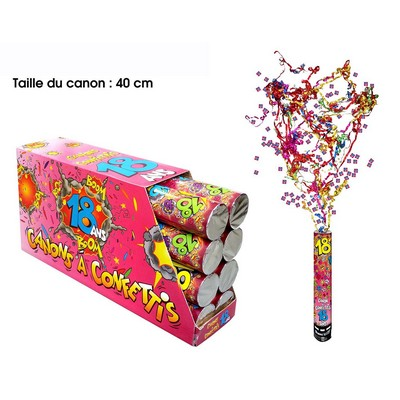 18253 - Canon à Confettis 18 Ans
