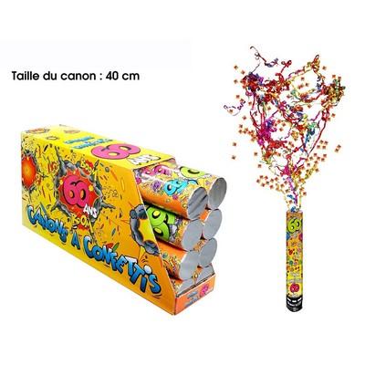 18307 - Canon à Confettis 60 Ans