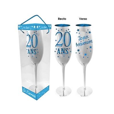 19400 - Flûte à Champagne Anniversaire Bleu